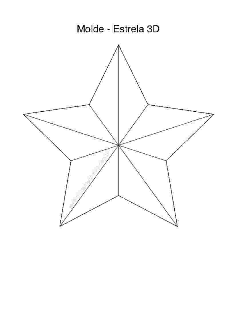 Molde de estrela grande