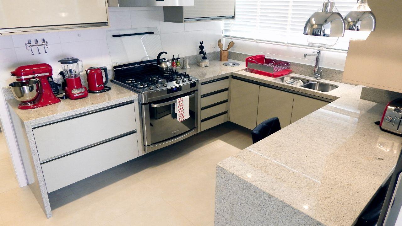 Cozinha de Granito Branco Siena