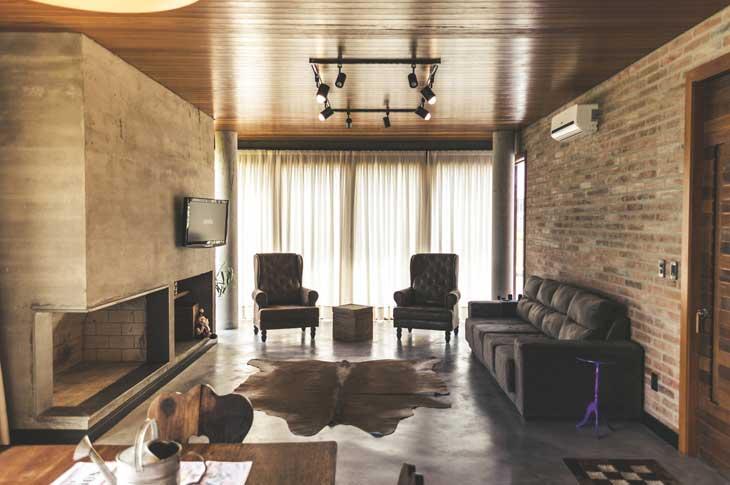 Decoração de Sala Moderna com Tapete de Couro de Boi Inteiro