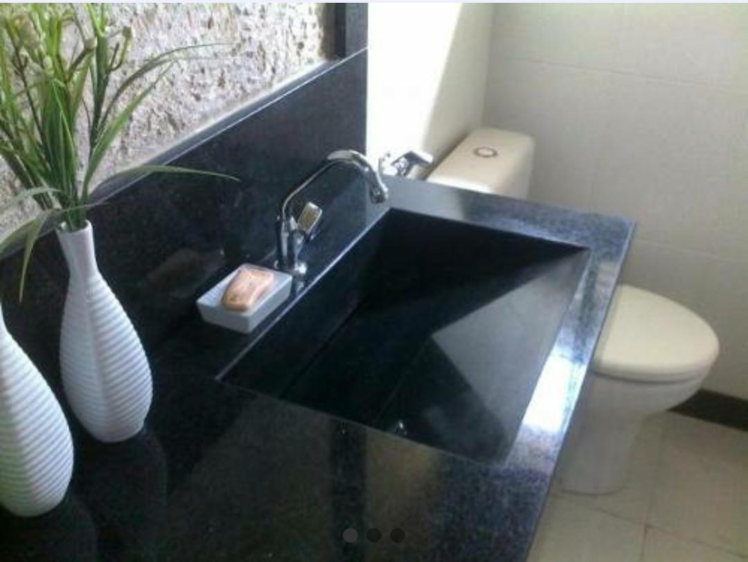 Granito Preto São Gabriel no Banheiro