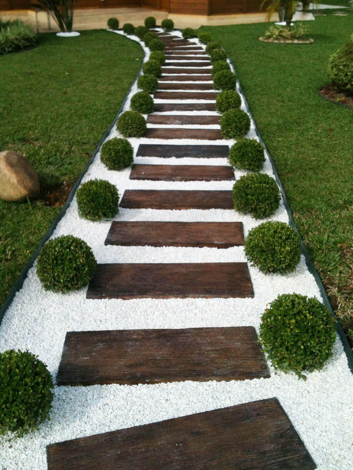 Pisantes Para Jardim madeira