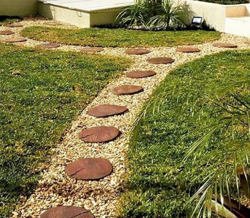 Pisantes Para Jardim tronco