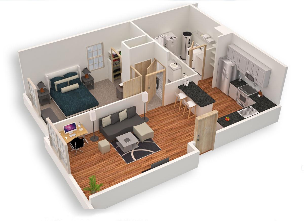 Projetos 3D de Casas Pequenas