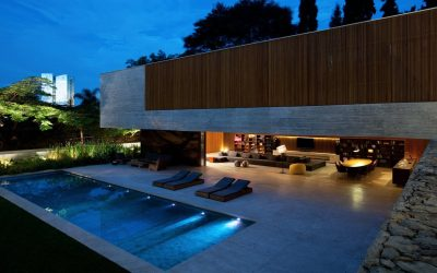 casas contemporâneas com piscina