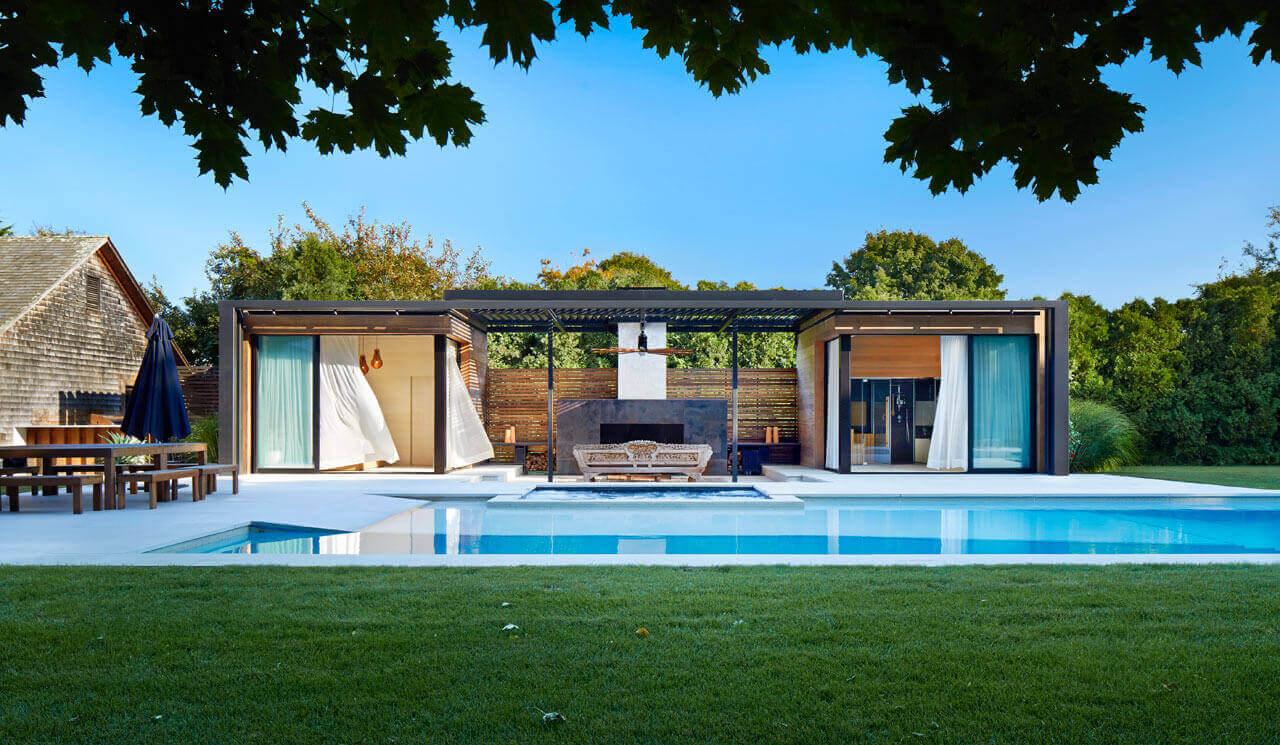 Casa de Piscina Moderna