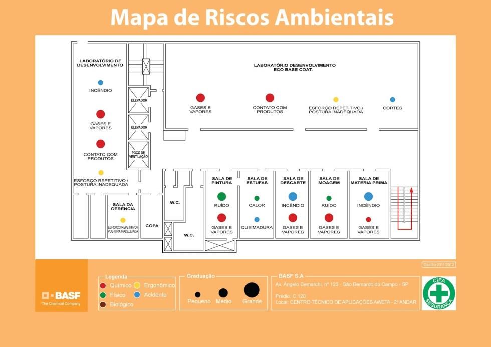 Exemplo de Mapa de Riscos
