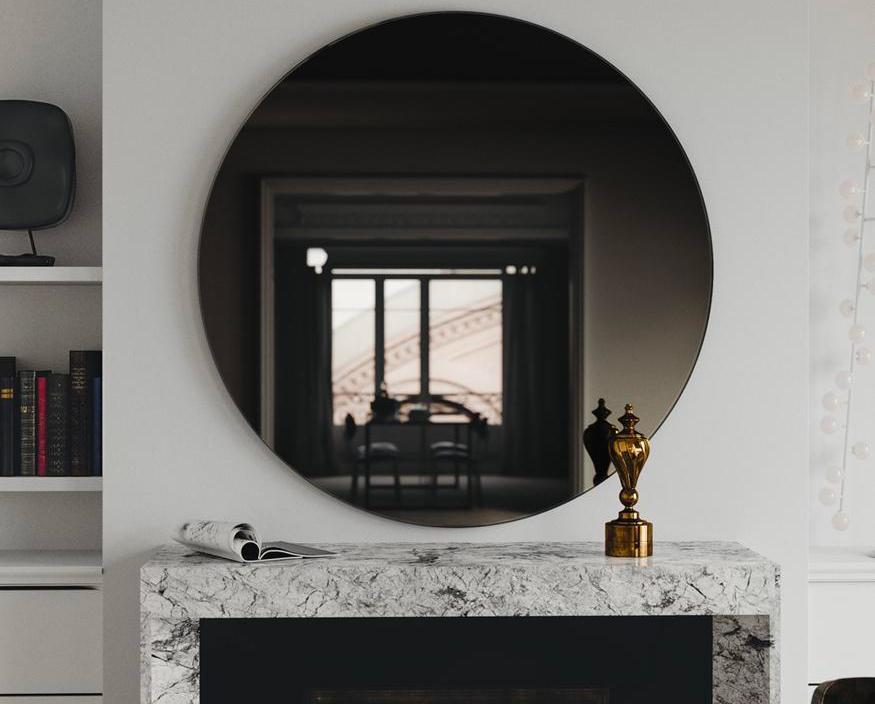 espelho fumê sala