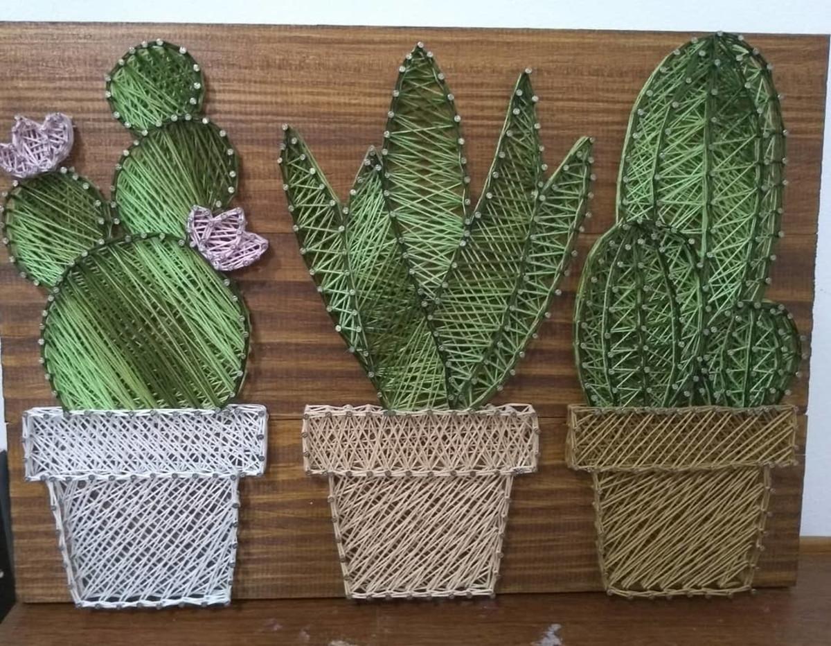 Cactus de String Art