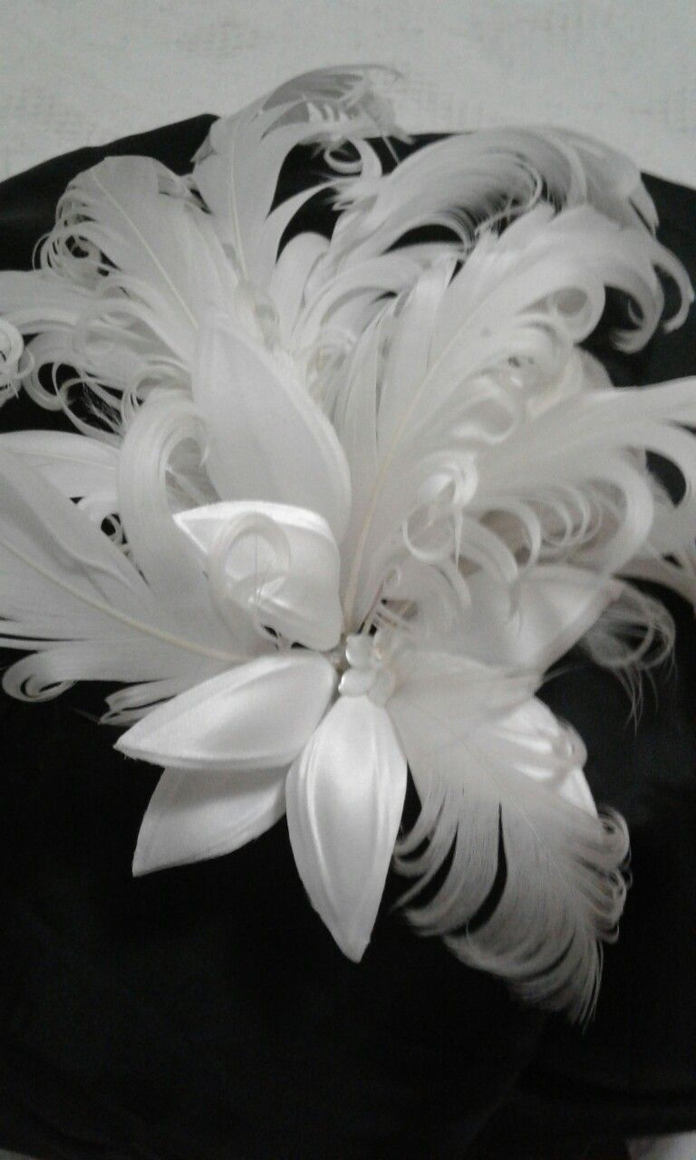 flor de cetim Para Cabelo