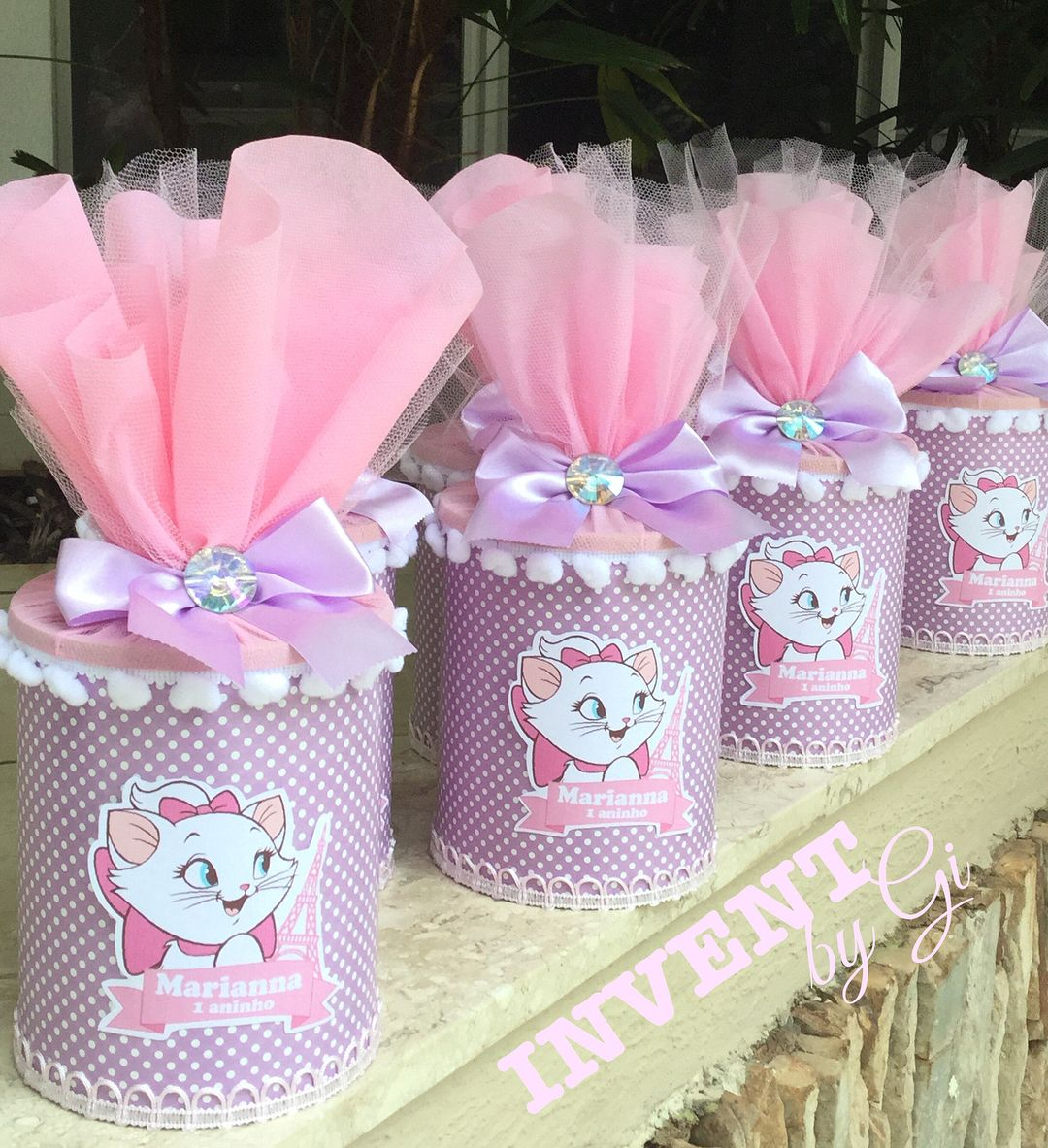 latas decoradas aniversário
