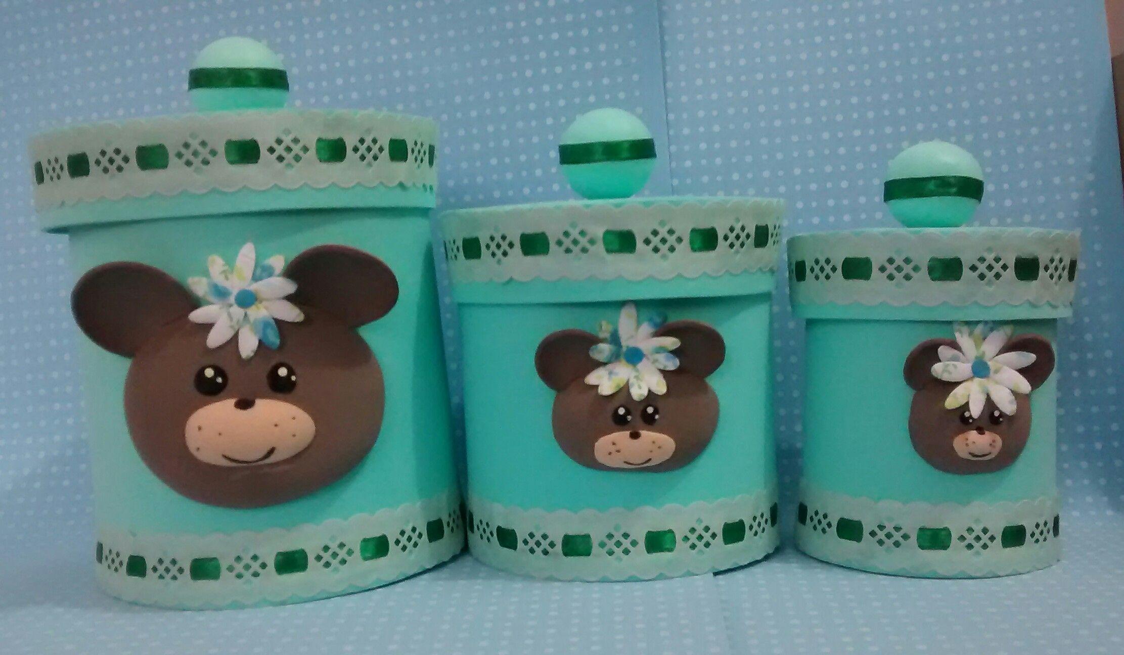 latas decoradas eva