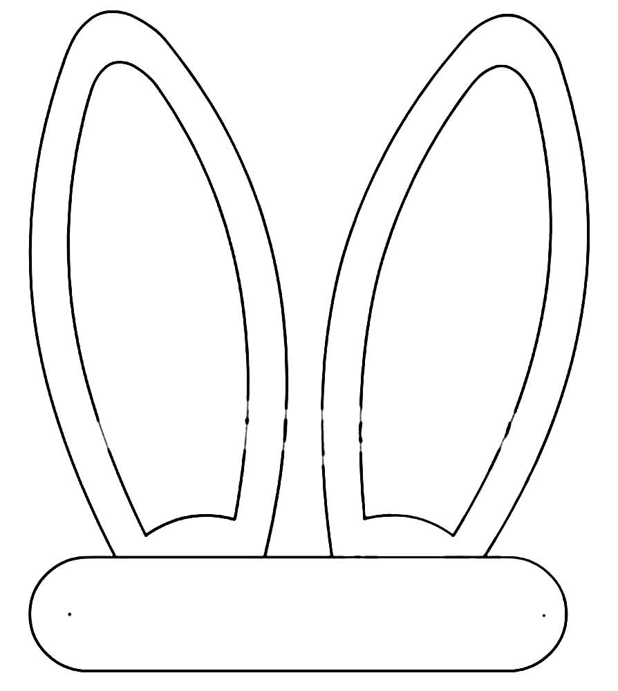 Molde de Orelhinha de Coelho da Páscoa