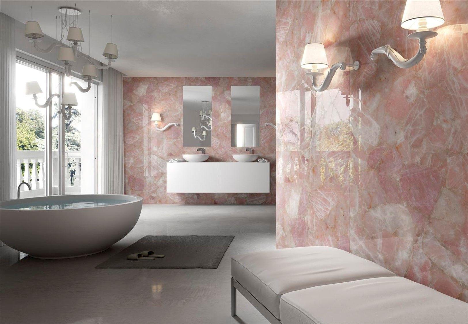 Banheiros com granito rosa