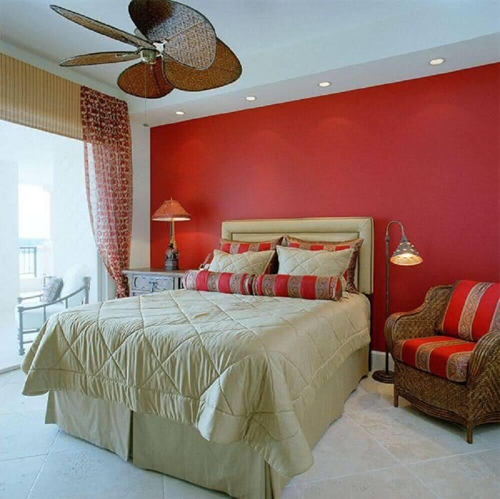 decoracao vermelho e bege