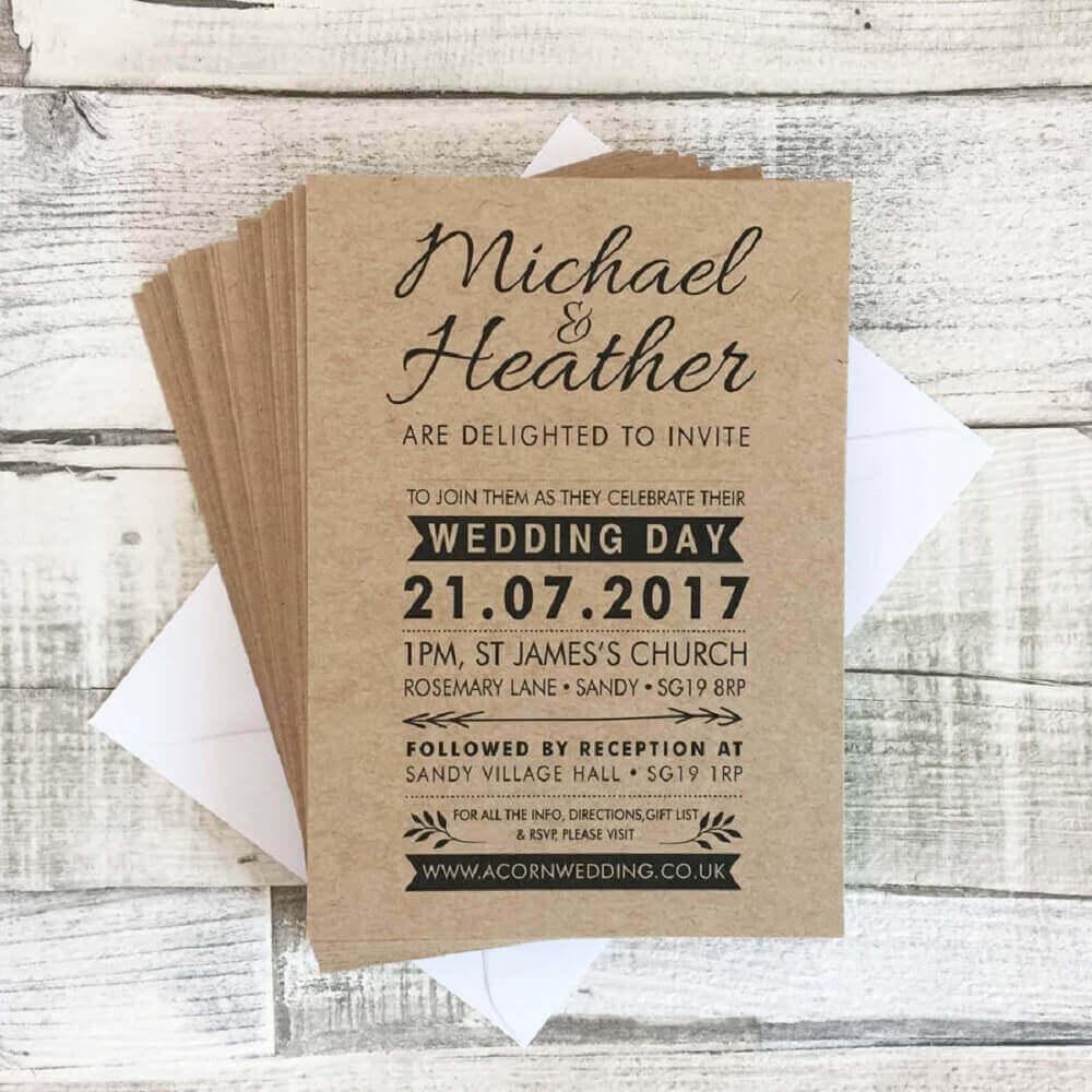 Convites para bodas de madeira