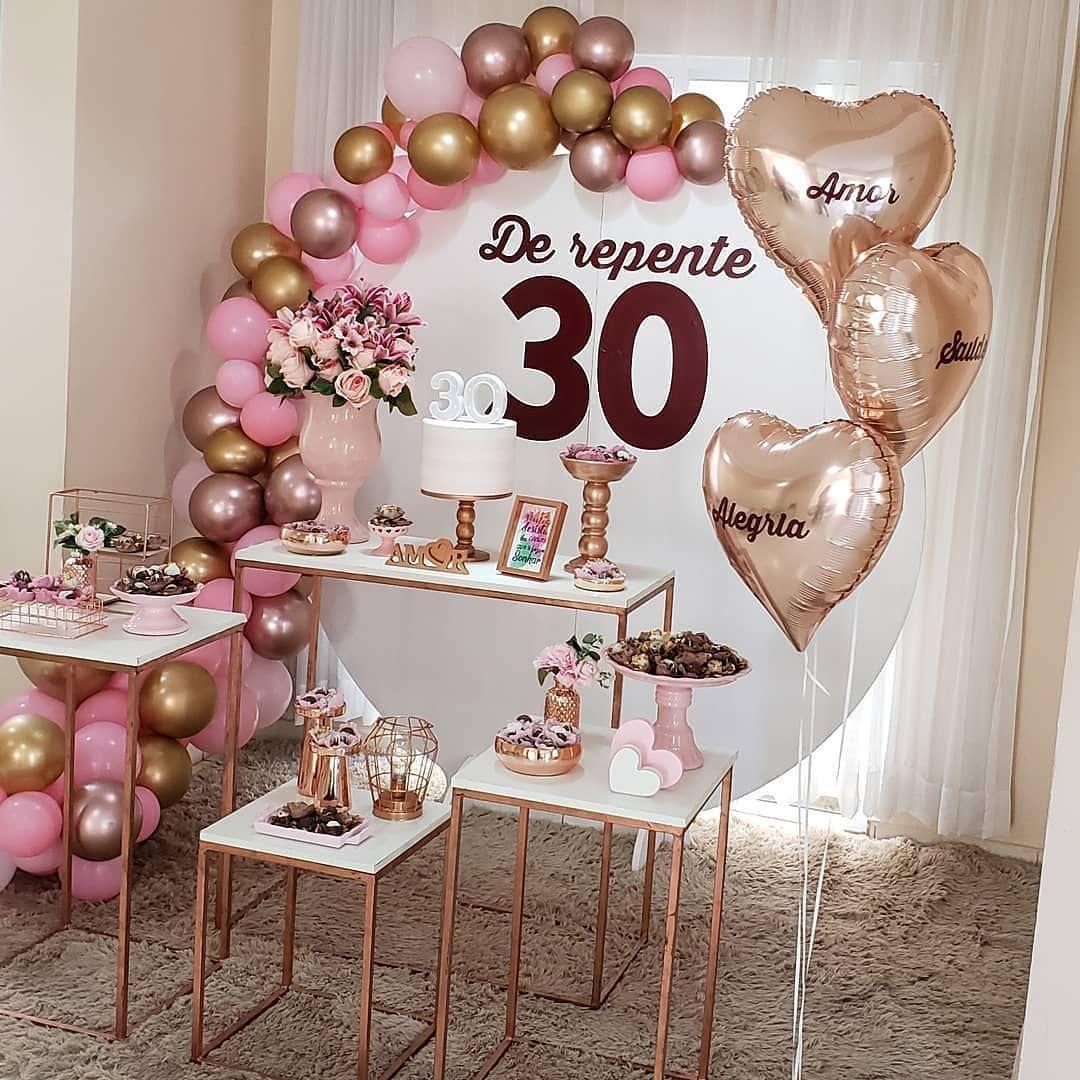 Festa de Aniversario de 30 Anos Simples e Barata