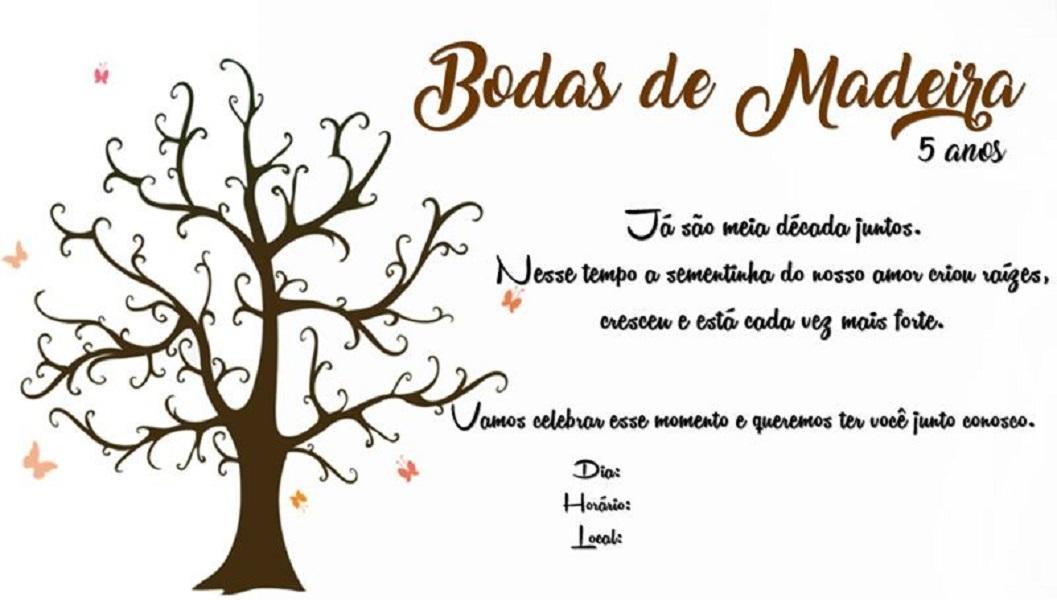 Mensagens Para Bodas de Madeira