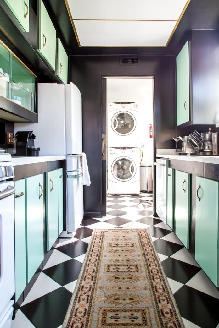 cozinha verde menta