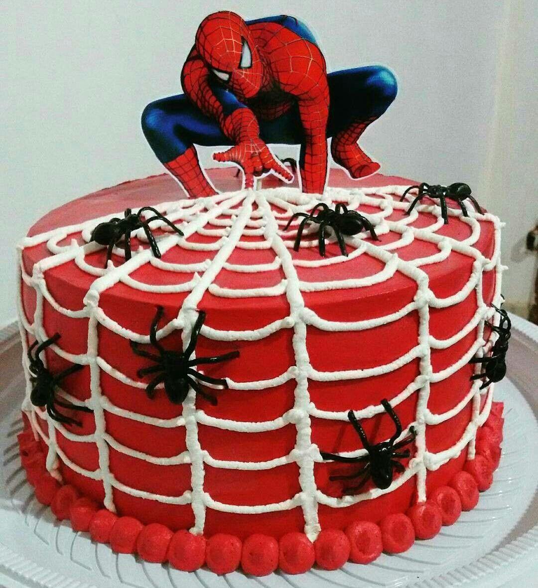 bolo do homem aranha redondo