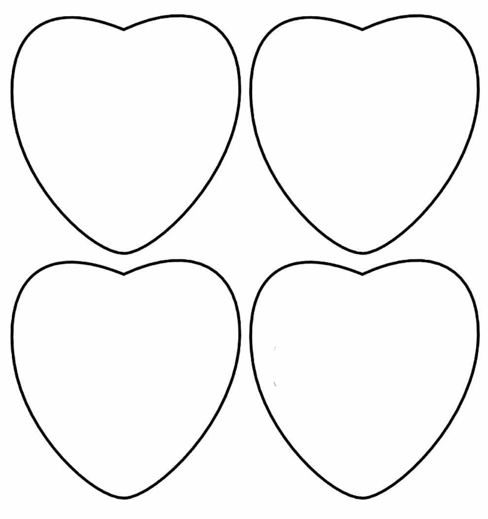 Moldes De Coração Pequeno