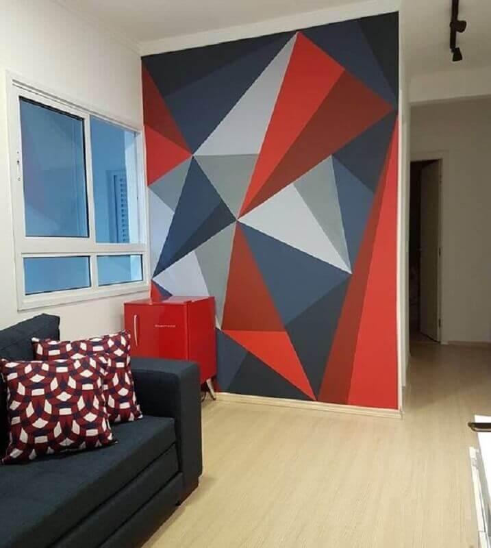Parede geométrica Na Sala