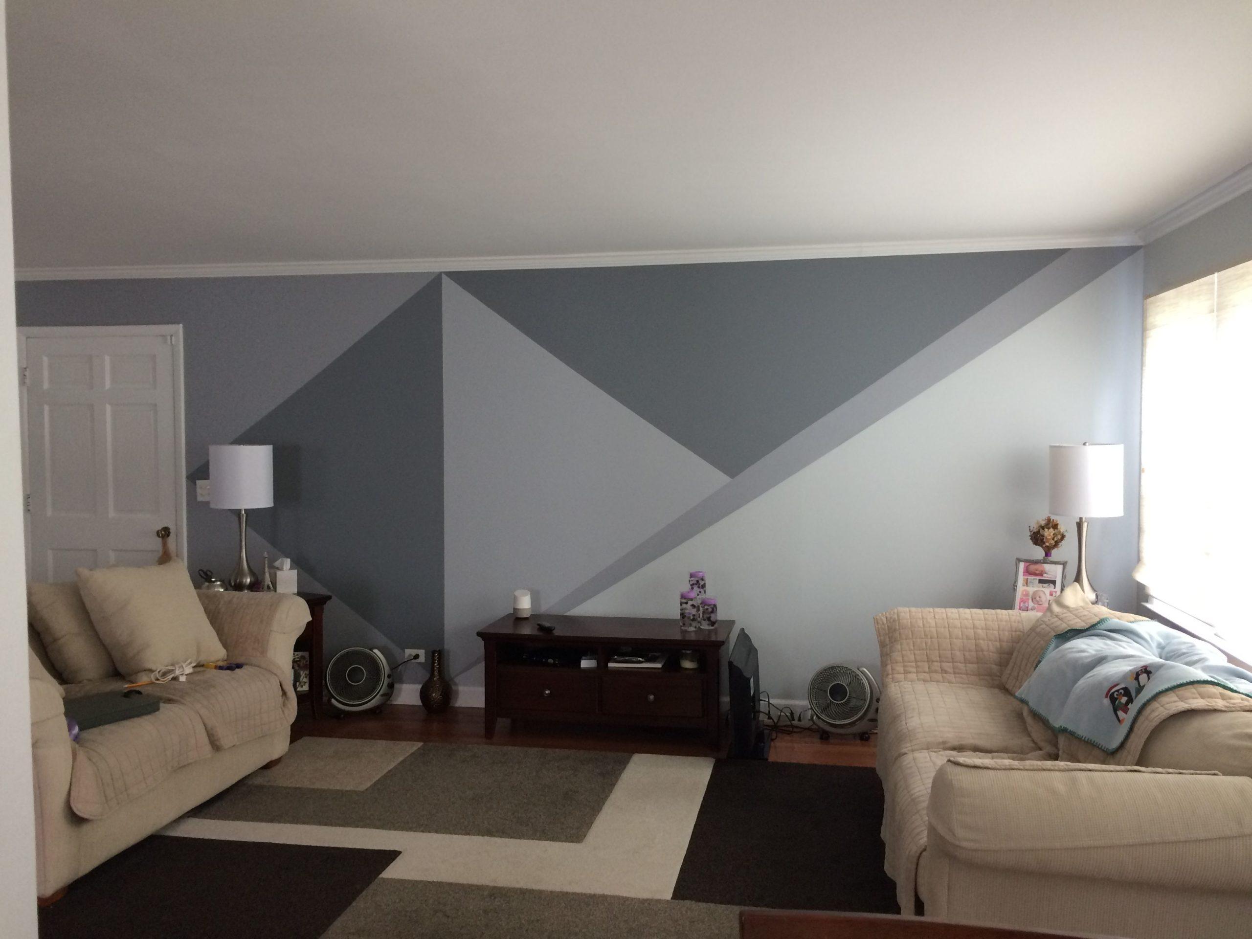Parede geométrica cinza