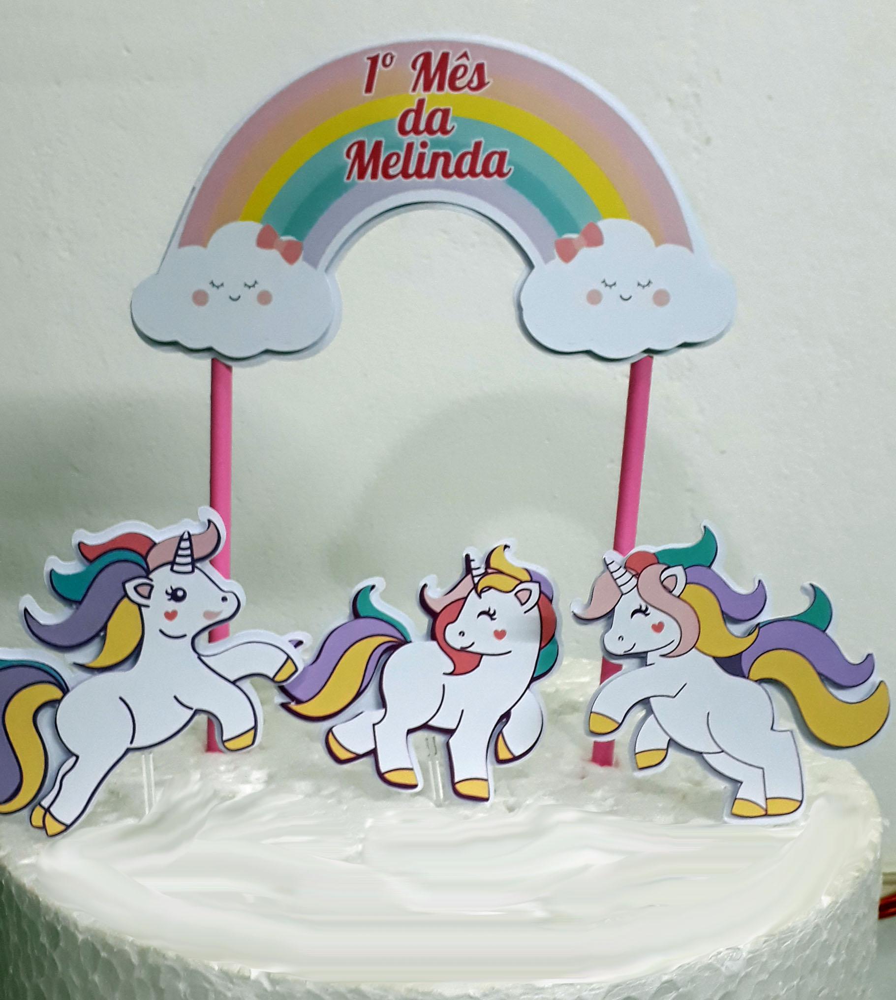Topo De Bolo unicornio