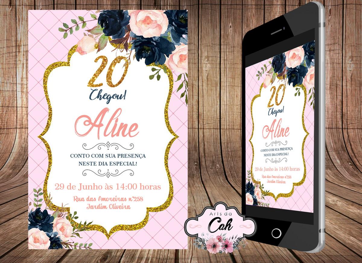 Convites E Lembrancinhas De 20 Anos