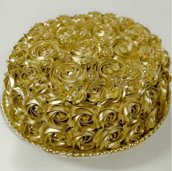 Bolo Dourado Simples