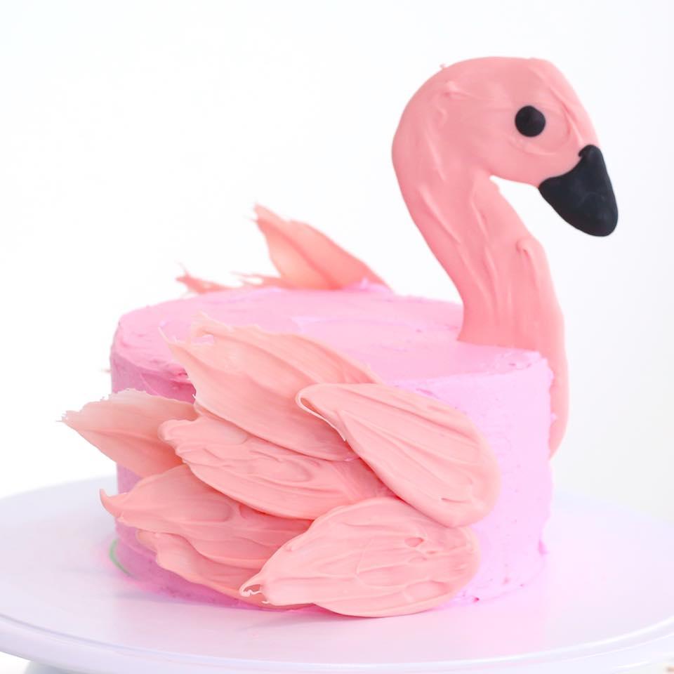 Bolo Flamingo Chantilly-Glace