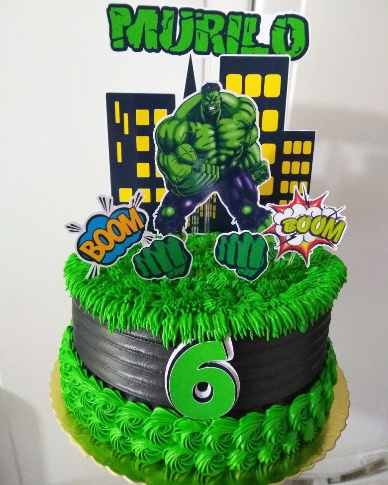 Bolo do Hulk redondo