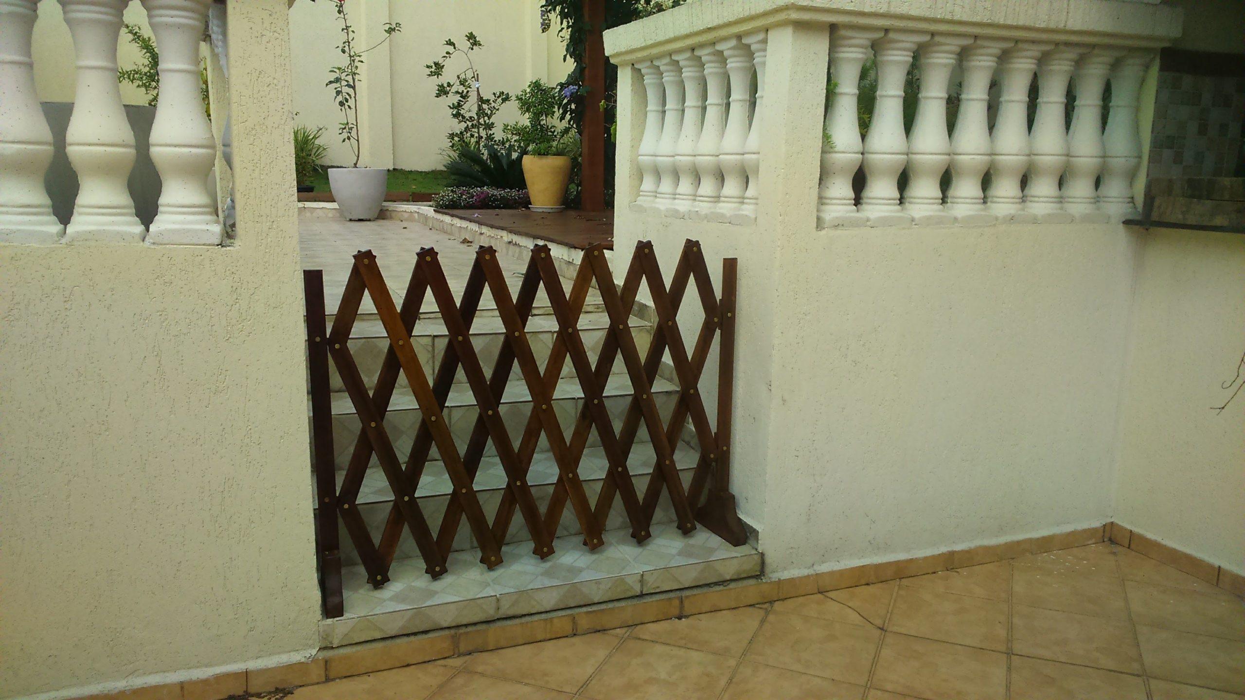 Portão para cachorro Sanfonado