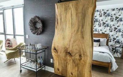 Porta de Correr para quarto de madeira maciça