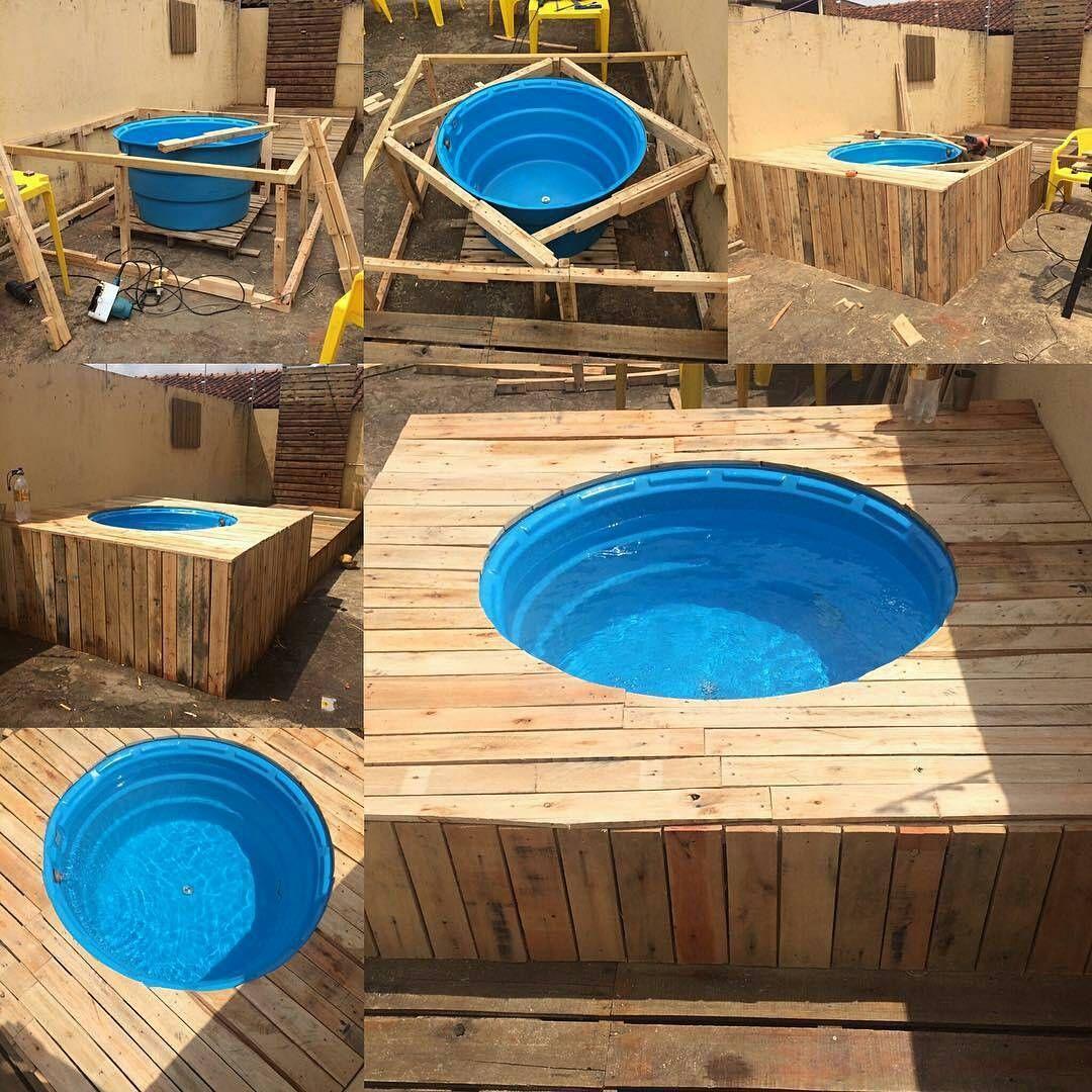 Piscina De Pallet Com caixa d'água