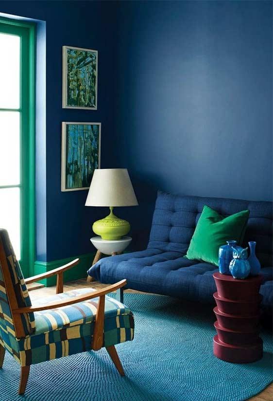 cores que combina com azul petróleo