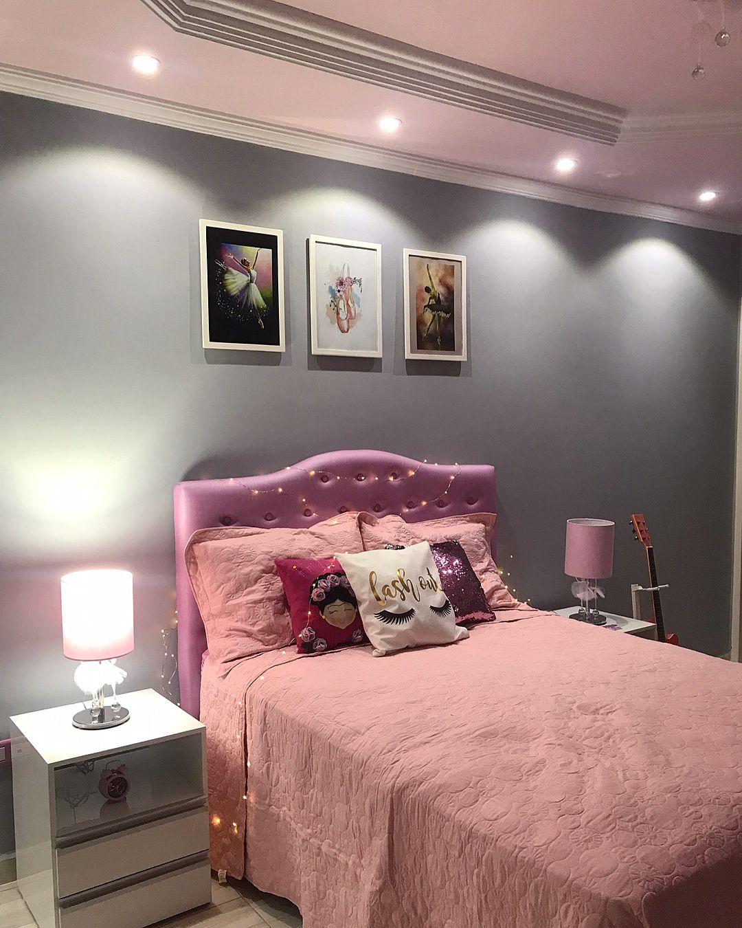 decoração quarto rosa