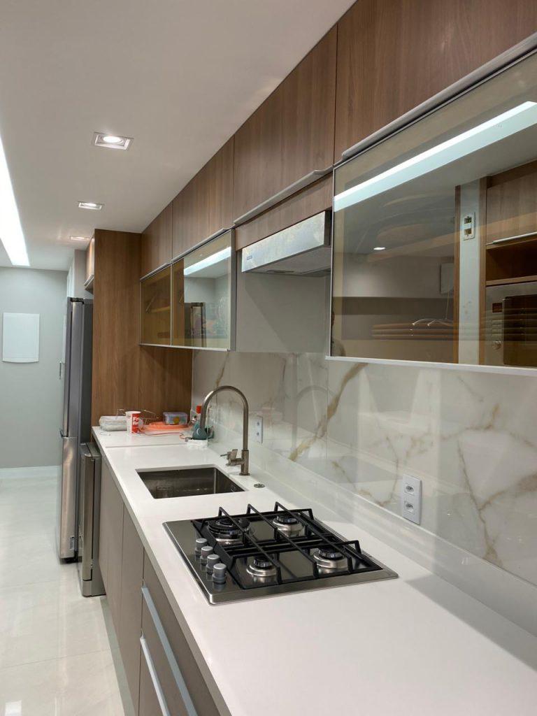 vidro reflecta cozinha