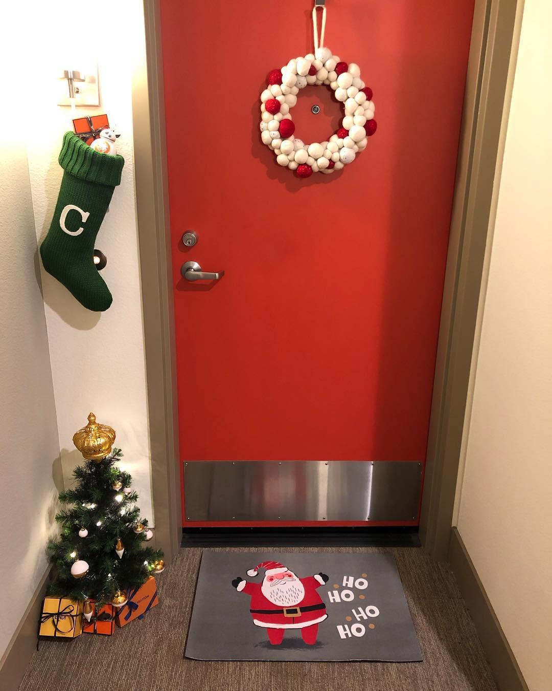 Decoracao de Natal Simples Para porta