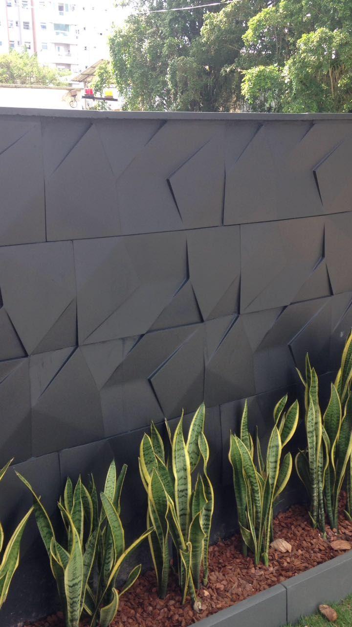 Fachada de Muro com Cerâmica 3d