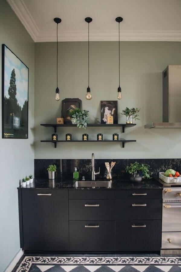 Verde Musgo na Cozinha