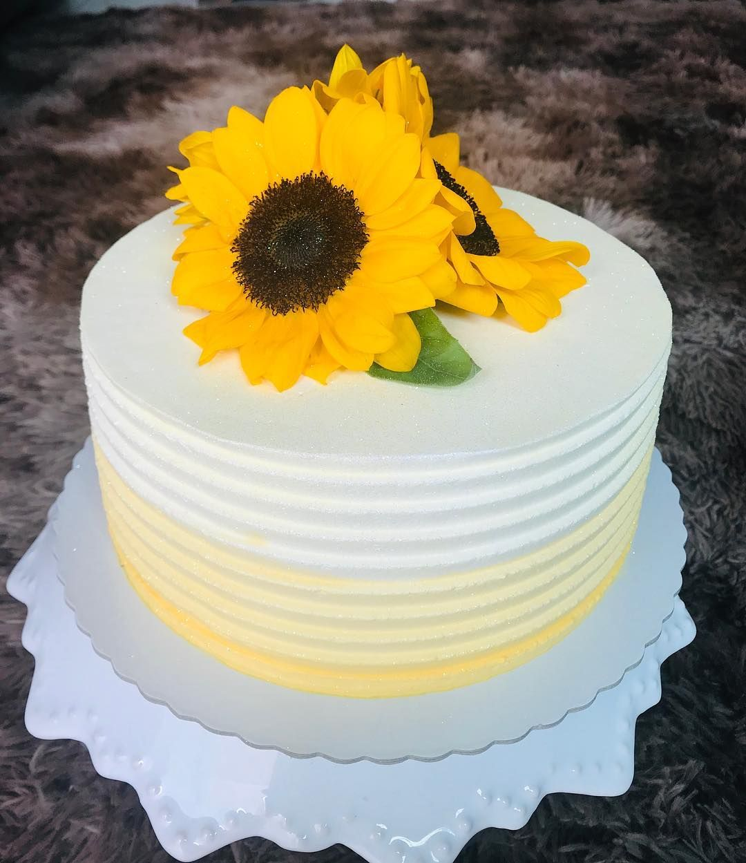 bolo de girassol simples
