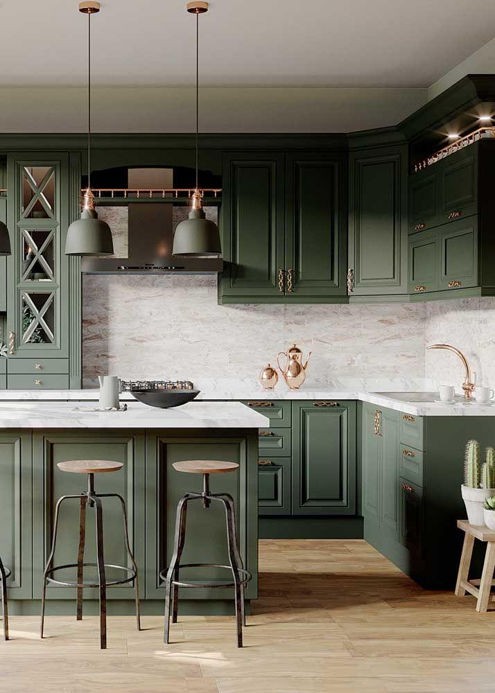 Cozinha Verde Musgo