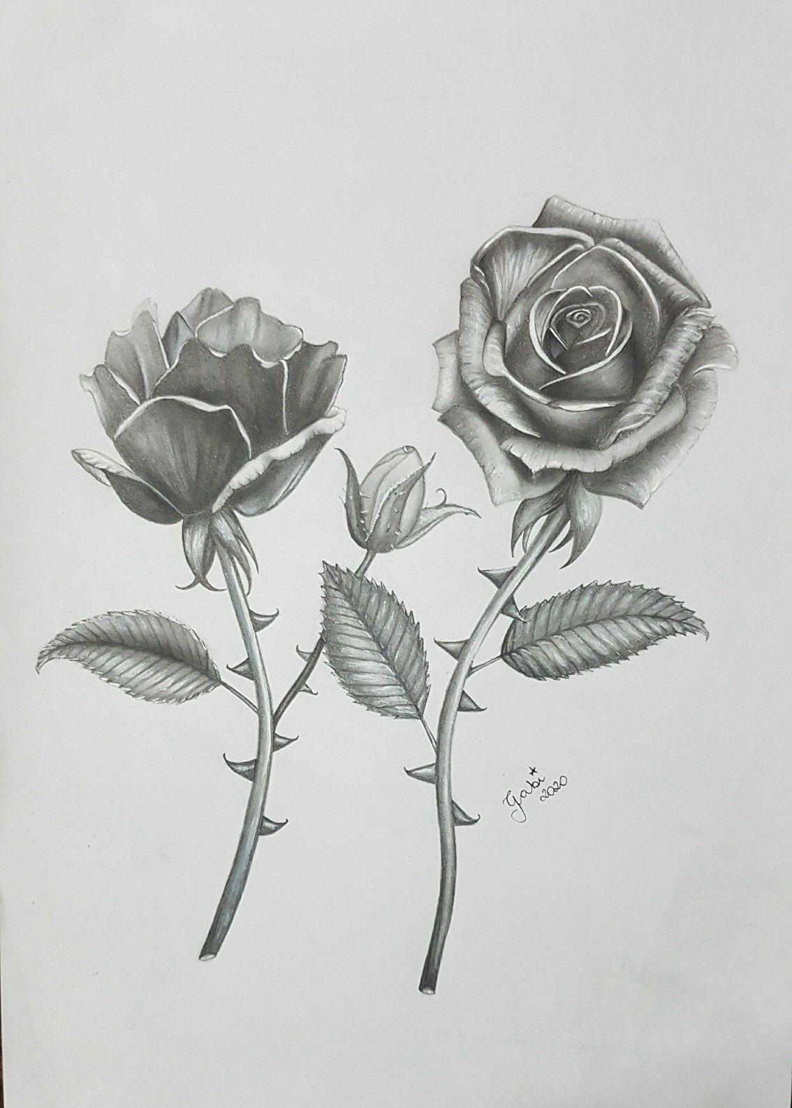 Desenho De Flor Realista