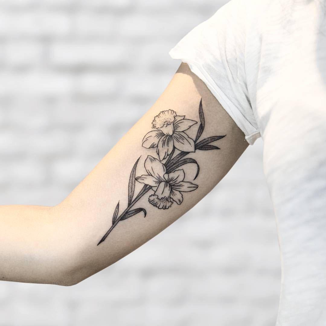 Tatuagem de Narciso Flor